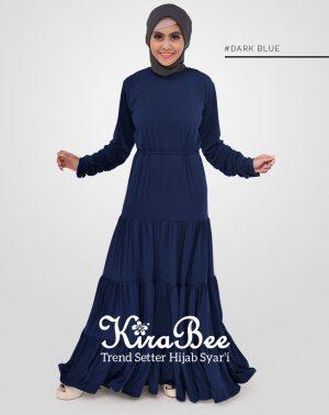 baju gamis milie dark blue