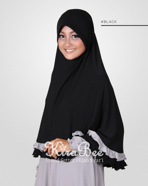 bergo jumbo shafiena black