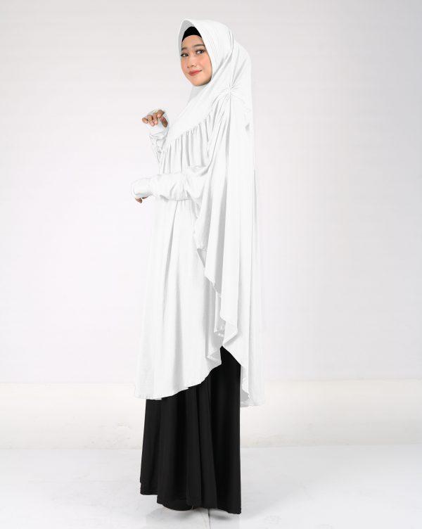 jilbab umroh putih