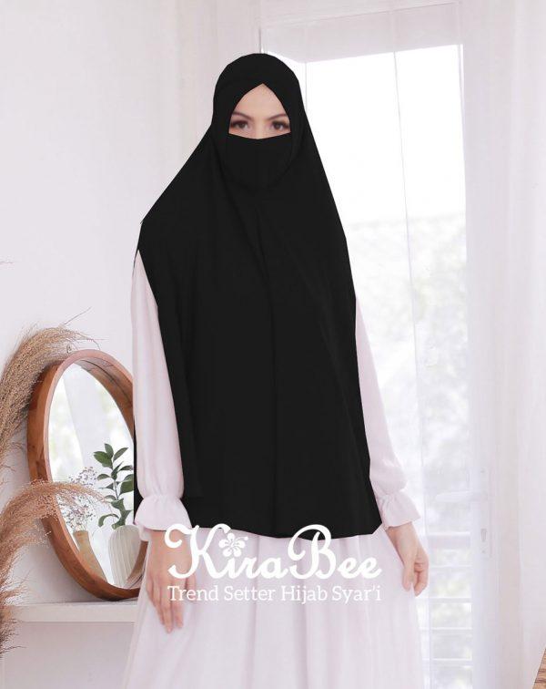 jilbab masker hitam